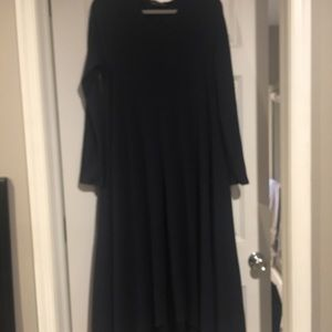 Avenue hill ribbed navy high low dress. Large